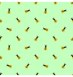 Seamless pattern with wasps vector