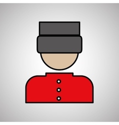 Hotel bellboy design vector