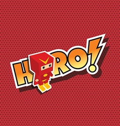 Great superhero cartoon vector