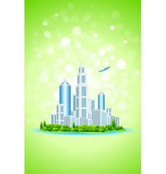 Business City Island vector image