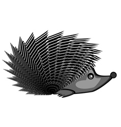 A funny hedgehog vector