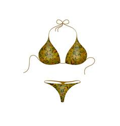 bikini suit in military design vector image