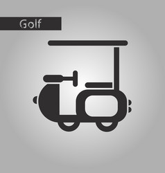 black and white style icon golf machine vector image vector image
