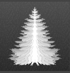 Christmas tree pine tree isolated vector