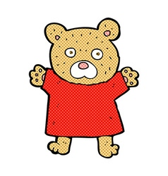 comic cartoon cute teddy bear vector image vector image