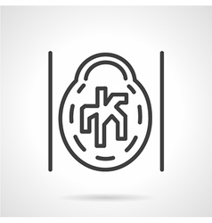 Ct angiogram icon line style vector