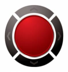 direction button vector image