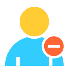 Flat user icon member sign avatar button vector