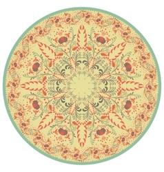 Flower Mandala Vintage decorative element vector image