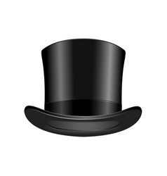 gentleman fashion hat modern elegance black cap vector image