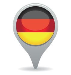 German flag pointer vector