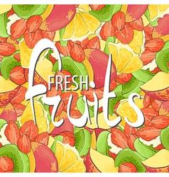 juicy fruits vector image vector image
