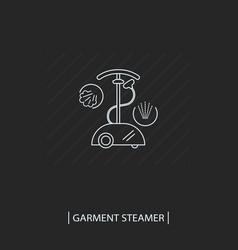 Line style garment steamer icon outline steam vector