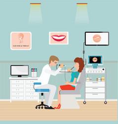 Medical otolaryngologist ear nose throat doctor vector