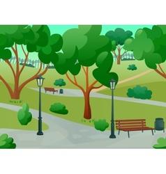 Park landscape flat vector