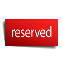 Reserved red paper sign on white background vector