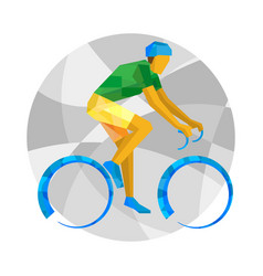 Road cycling with abstract patterns vector
