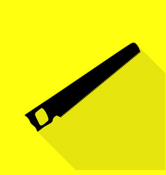 Saw simple sign black icon with flat style shadow vector