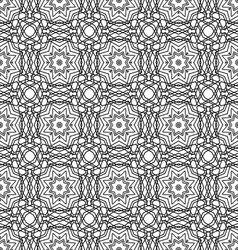seamless monochrome ornament vector image vector image