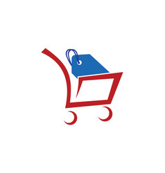 Shopping cart sale logo vector