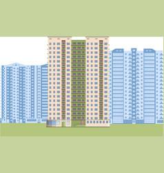 skyscrapers city district vector image
