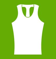sleeveless shirt icon green vector image vector image
