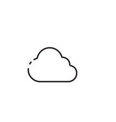 Thin line cloudy icon vector