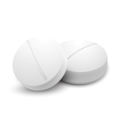 Two pills isolated on white vector image