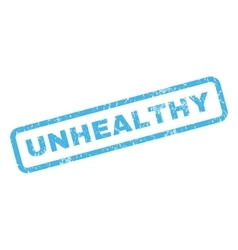 Unhealthy rubber stamp vector