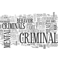 What makes a criminal nature or nurture text word vector