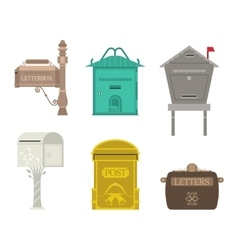 Post mail box set vector image