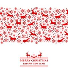 Xmas deer red vector