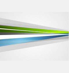 Abstract blue and green corporate stripes vector