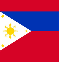 national flag of philippines republic vector image