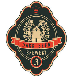 Labels for the brewery or beer with a windmill vector