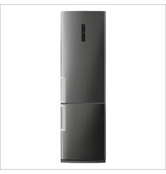 metallic refrigerator vector image