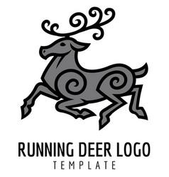 Running deer vector