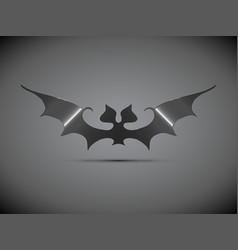 Steel bat halloween logo vector