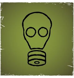Gas mask on old scratched background vector