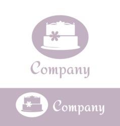 Cake logo temlate vector