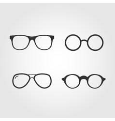 Set of glasses flat design vector image