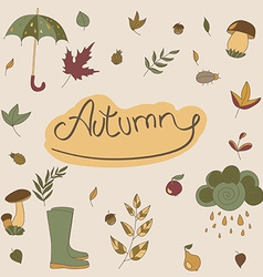 Autumn objects seasonal objects vector