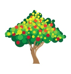 Apple tree on white background vector