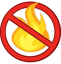 No fire symbol vector image