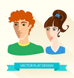 Teenage sport boy and girl team flat design vector