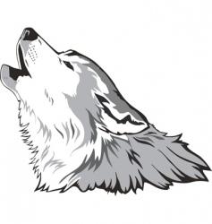 wolf head vector vector image