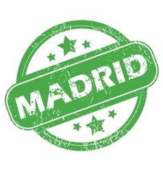 Madrid green stamp vector
