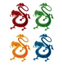 Eastern dragon design element vector