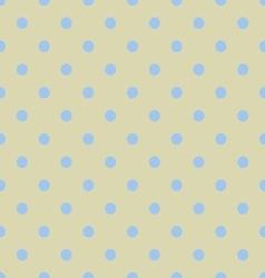 Seamless polka dot yellow pattern with circles vector