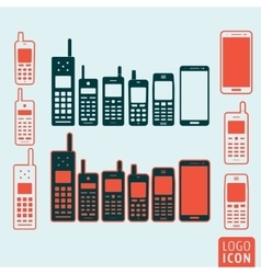 Mobile phone icon isolated vector